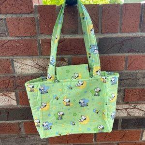Handmade fabric Snoopy bag
